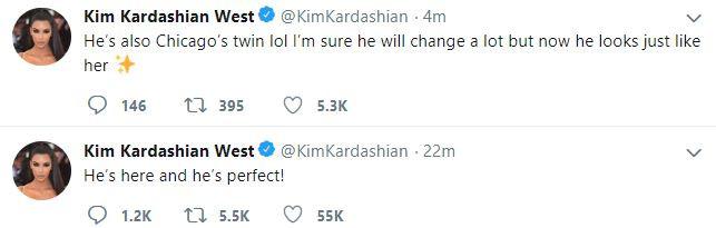 """He's perfect"" - Kim Kardashian and Kanye West welcome baby no. 4"