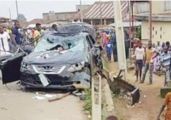 Four-year-old boy crushed to death inside his parents? compound by a car that lost control in Lagos
