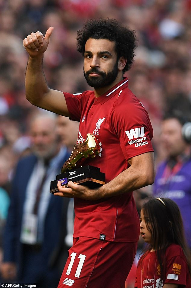 African footballers, Salah, Mane and Aubameyang share Premier League Golden Boot award after finishing on 22 goals each (Photos)