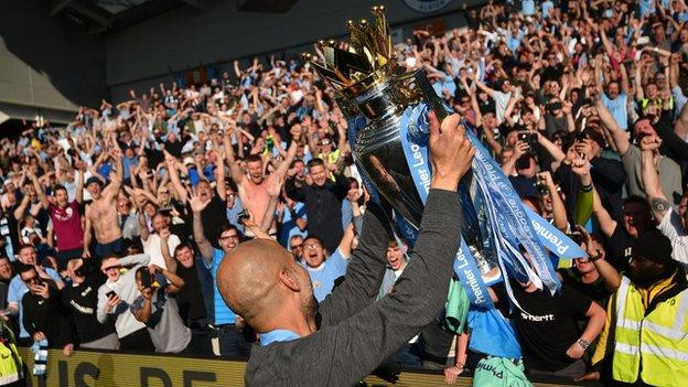 Manchester City win back-to-back Premier League titles after thrashing Brighton 4 - 1 (Photos)