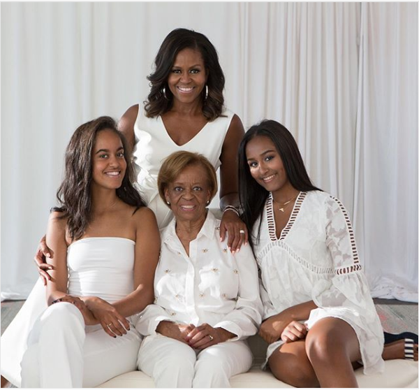 Michelle Obama shares beautiful family photo as she pays tribute to her mom to celebrate Mother