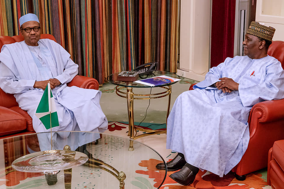 President Buhari hosts former Head of State?Yakubu Gowon at?state house just days after he