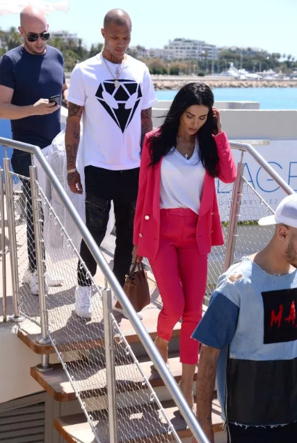 "Hot Felon, Jeremy Meeks seen in Cannes with mystery woman after Chloe Green ditches ""engagement ring"""