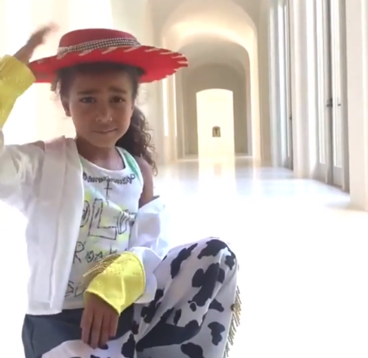 Budding star: North West Dances to Lil Nas X