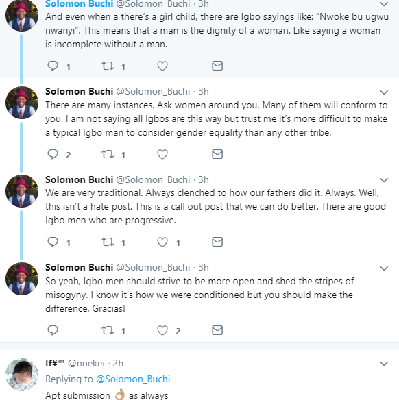 """Igbo man defends woman who generalized and accused all Igbo men of being """"insufferable and misogynistic"""""""