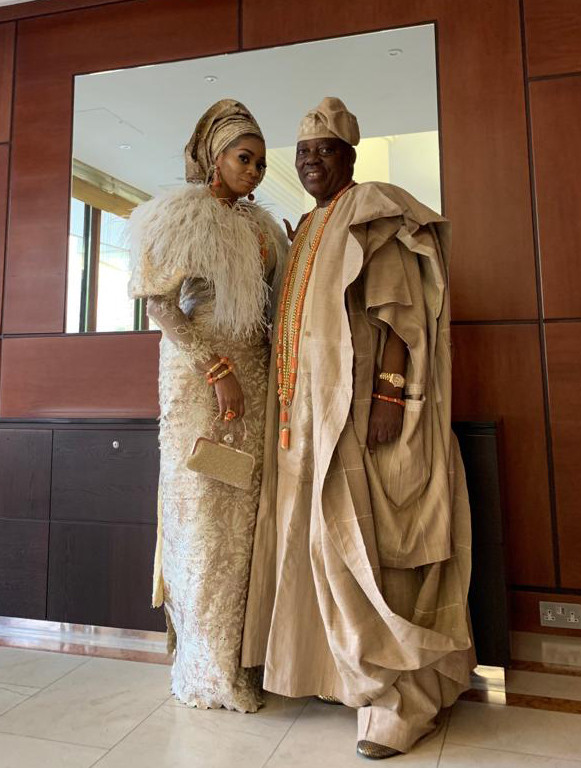 Billionaire, Chief Rasak Okoya & Wife Shade Grace Queen Of England Party At Buckingham Palace (photos)