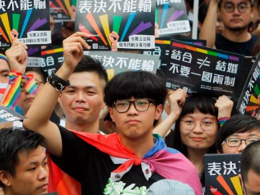 Taiwan becomes the first Asian country to?approve?a bill legalizing same-sex marriage