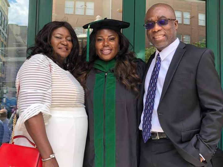 Photos: Daughter of Nigerian Literary Critic, Ikhide Ikheloa becomes the first Medical Doctor in her entire family