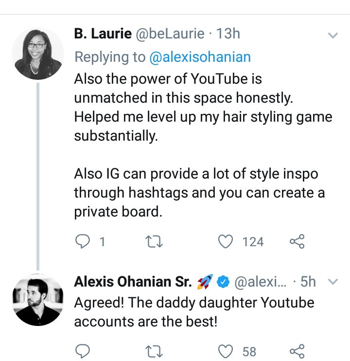 Alexis Ohanian is hailed a great father after revealing he applied to a natural hair Facebook group to learn to care for his daughter