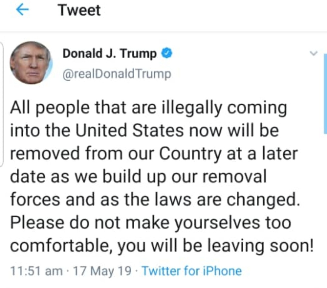 President Trump has a message for illegal immigrants and its hilarious