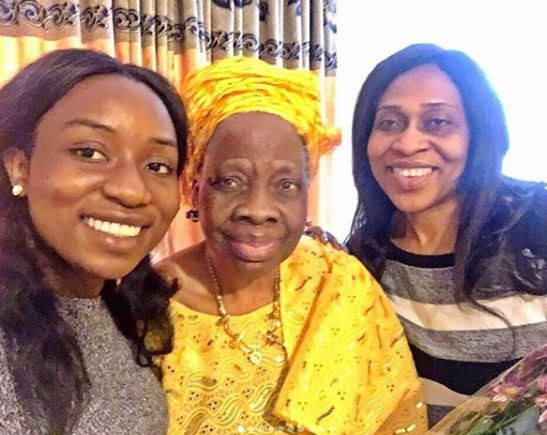 Olakunle Churchill shares photo of his grandma, mum and his sister