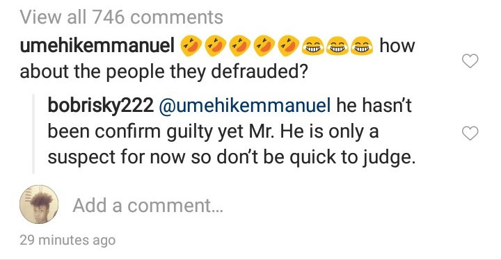 Bobrisky defends Naira Marley as he appeared in court today then said a short prayer for him