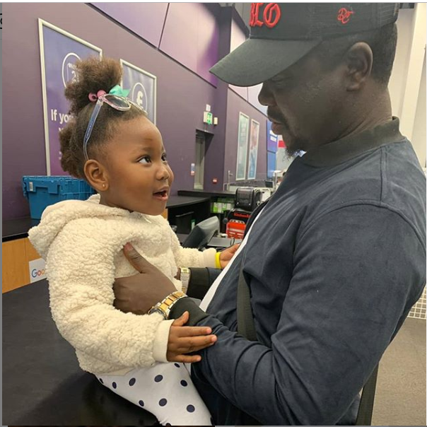 Adorable photo of Comedian Seyilaw and ?his daughter, Tiwaloluwa