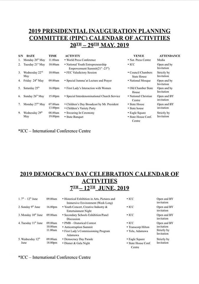 Minister of Information, Lai Mohammed reveals full details of?the May 29th presidential inauguration and June 12th