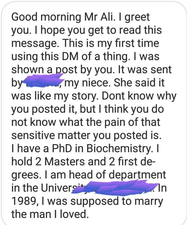 There is more to marriage than a God fearing man- Nigerian lady says as she shares on how her marriage crumbled largely due to sexual dissatisfaction