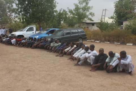 Photos: Police arrest kidnappers of Govervor Masari?s 80-year-old mother-in-law, 65 other kidnappers