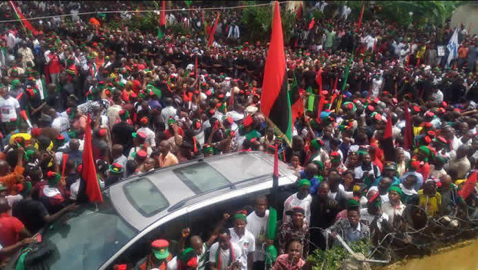 """""""We will treat any person associated with IPOB as a terrorist"""" Police say in reaction to the May 30 sit-at-home order"""