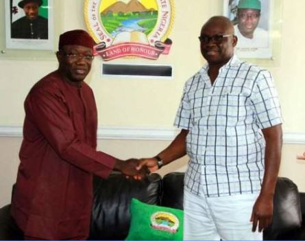 Ayo Fayose congratulates Governor Fayemi on his election as NGF chairman