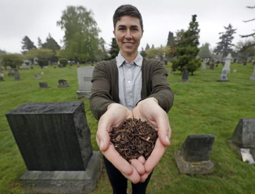 Washington becomes the first state to legalize the composting of human bodies as an alternative to burial or cremation