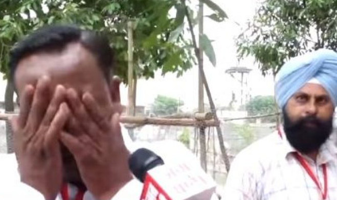 Indian politician with 9 eligible family members, breaks down in tears after getting 5 votes