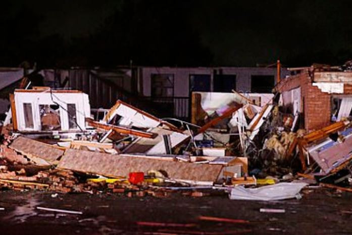 Two people dead and dozens injured after tornado levels a hotel in Oklahoma