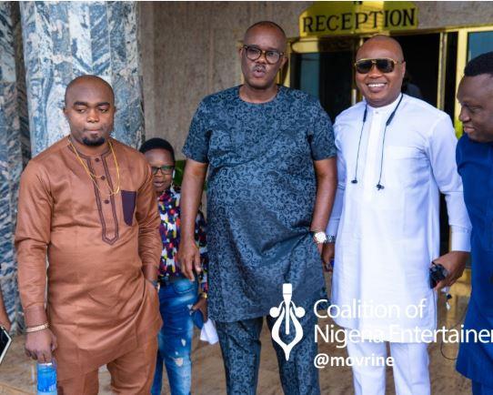 Photos: Chinedu Ikedieze, Charles Inojie, Ejike Asiegbu other Nollywood stars attend Regina Daniels induction Rituals In Delta State