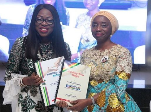 Photos: Bolanle Ambode hands over to wife of Governor-elect, Ibijoke Sanwo-Olu