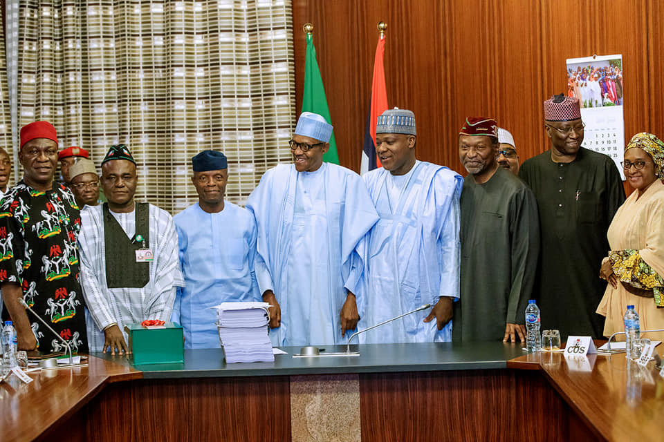 Photos: Saraki, Osinbajo, Dogara, others in attendance as President Buhari signs 2019 budget into law