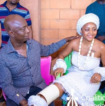 Image result for regina daniels and ned nwoko holding hands