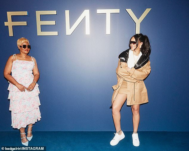 Rihanna poses in rare photos with her mom for her new fashion line (Photos)