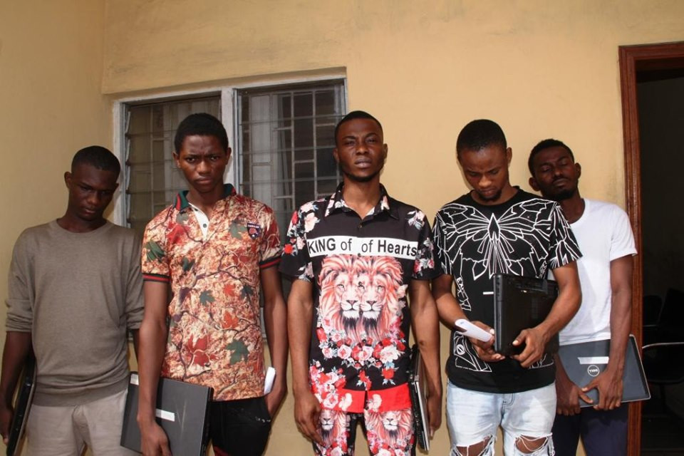 Photos: EFCC arrests proprietor and students of