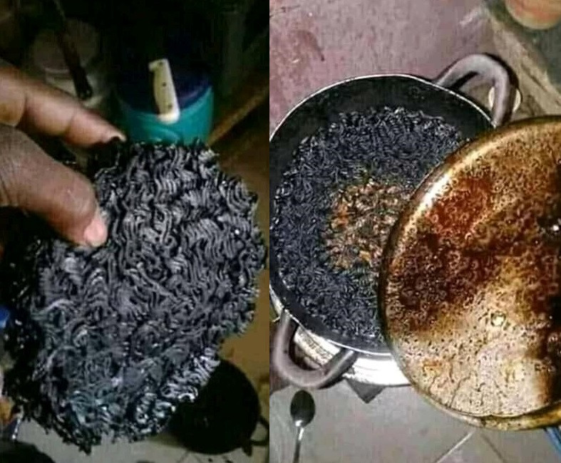 Young man cries on Twitter after girlfriend burnt noodles while watching
