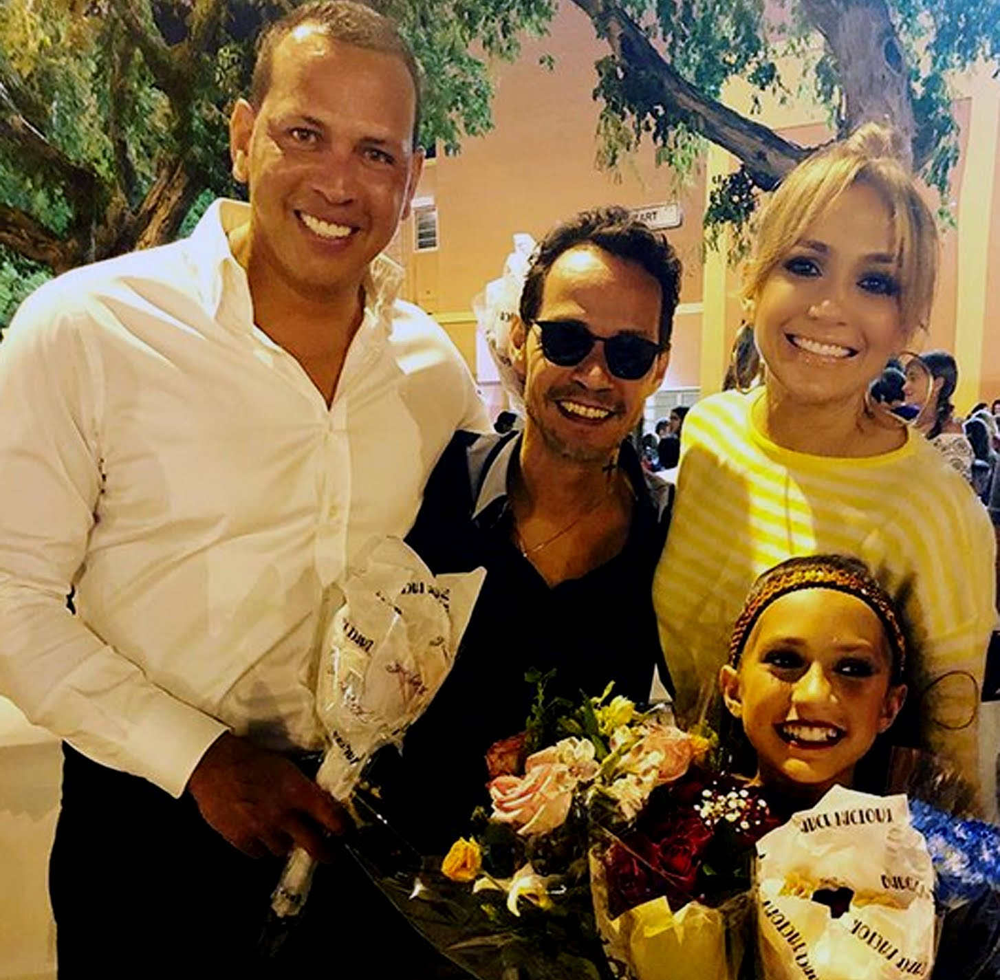 Alex Rodriguez filmed goofing around with fiancee Jennifer Lopez and her ex-husband Marc Anthony