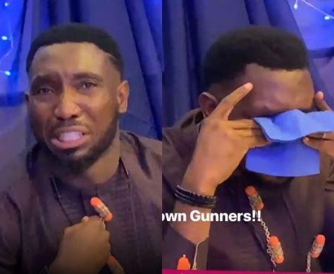 Timi Dakolo Breaks Down In Tears Following Arsenal's Europa Finals Loss To Chelsea