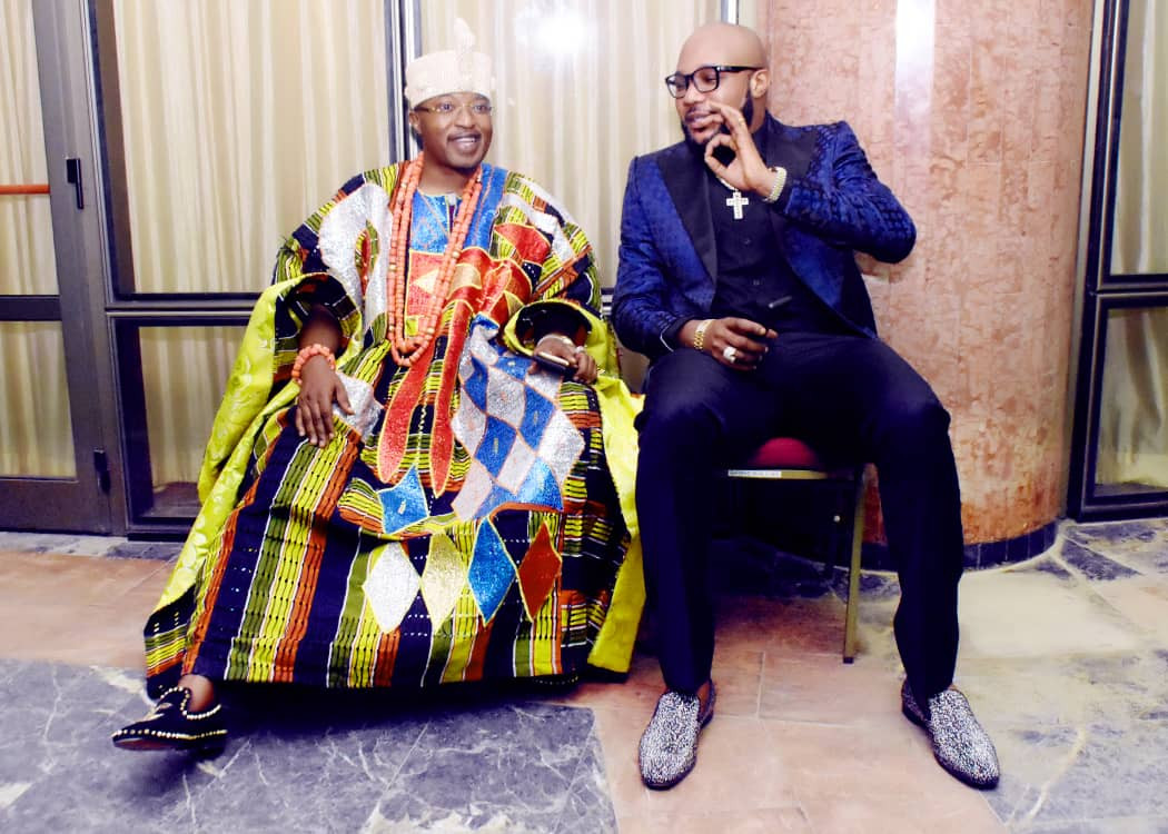 Photos of E-money and Oluwo of Iwoland at President Buhari