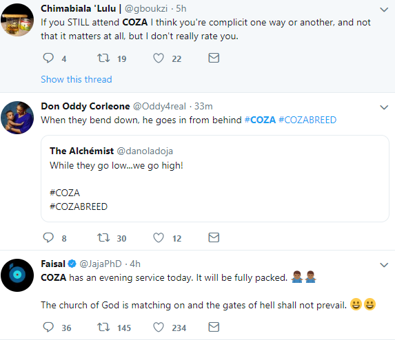 Nigerians on Twitter call out COZA pastor after Timi Dakolo made shocking revelations about a pastor who abuses female members (screenshots)