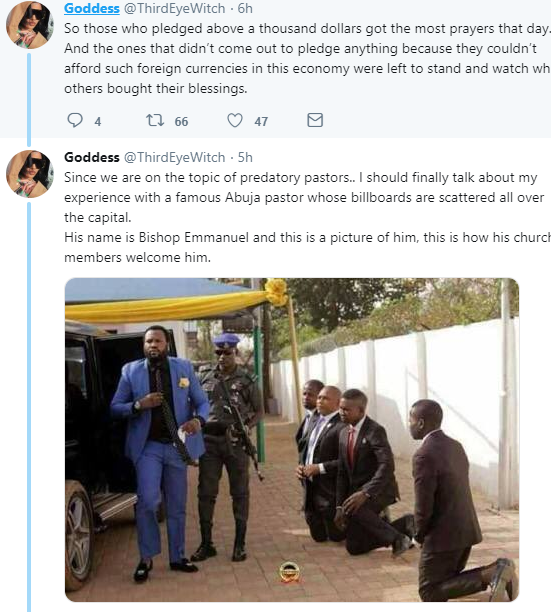 Twitter user accuses popular Abuja pastor of propositioning her for sex and asking her to introduce him to girls