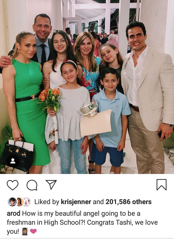 Blended family goals! Alex Rodriguez, his ex-wife Cynthia Scurtis, his fiancee Jennifer Lopez and their kids pictured together