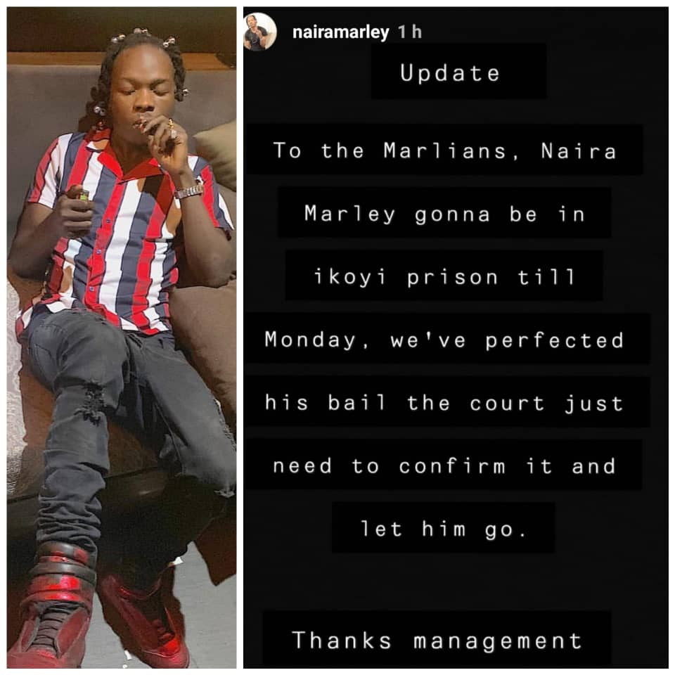 Naira Marley to remain in Ikoyi prison till Monday June 3rd