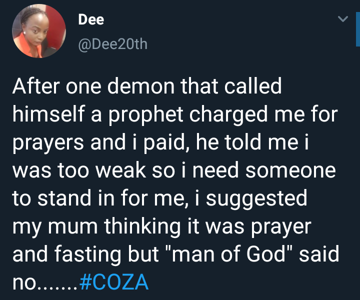 Lady narrates her experience with pastor who said he had to sleep with her to make her spiritually strong
