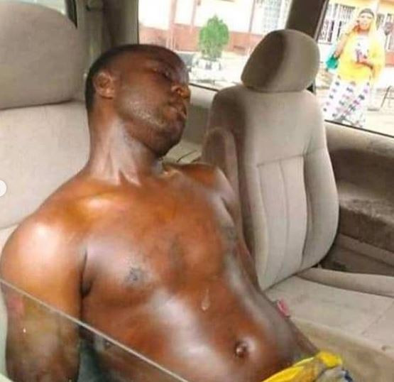Graphic Photo: LASPOTECH student?commits suicide by drinking