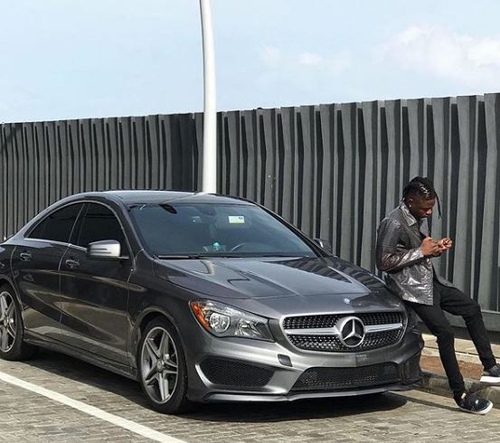 Photos: Lil Kesh shows off his brand new Mercedes Benz whip (Photos)