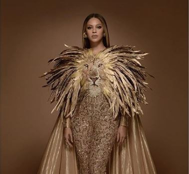 Beyonce releases stunning new photos dressed as her character 'Nala' in the new Lion King movie