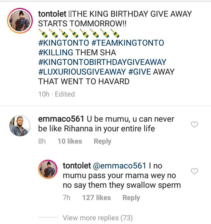 "Tonto Dikah drags follower who called her a ""mumu"""