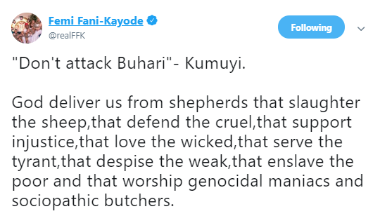 FFK reacts to Pastor Kumuyi