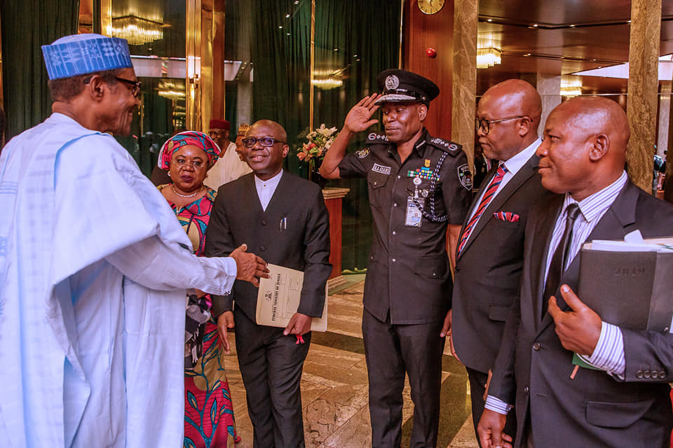 President Buhari receives report on SARS reform (Photos)