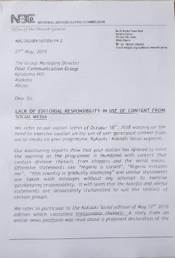 NBC threatens AIT over 'anti-government reports' (Photos)