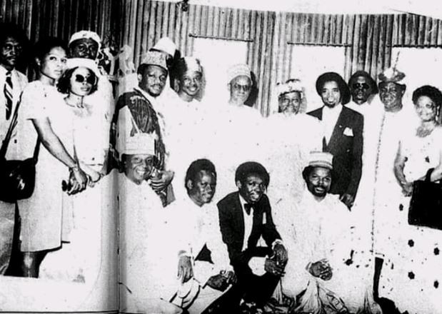 Throwback photo from a meeting between the founding members of PMAN and President Shehu Shagari in 1982