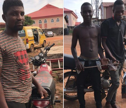 Photos: Three suspected traffic robbers arrested in Lagos