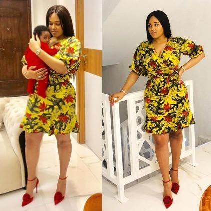 Lovely new photos of Tania Omotayo and her baby, Sarai